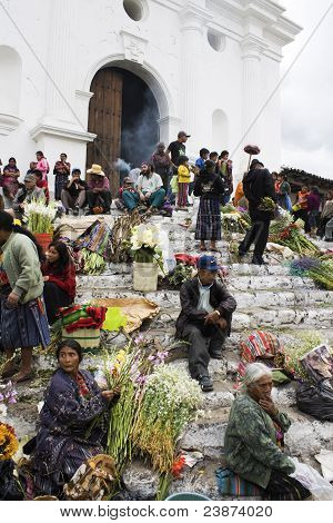 Sunday Market In Chichicastenango