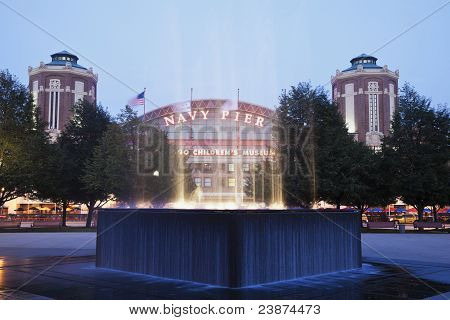 Fountain By Navy Pier