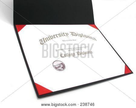 College Diploma In Frame