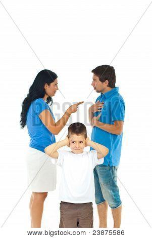 Junge will nicht hören Eltern Konflikt