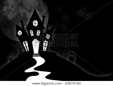 Horror house for halloween