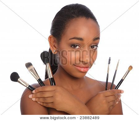 Pretty African American Make Up Artist Woman