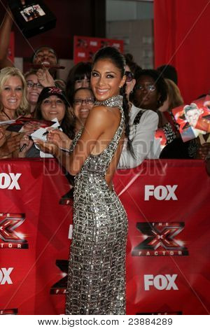LOS ANGELES, CA - SEPTEMBER 14: Nicole Scherzinger at the premiere of Fox's 'The X Factor' held at ArcLight Cinemas Cinerama Dome on September 14, 2011 in Los Angeles, California