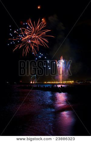 Fireworks At The Beach Of Barcelona 1