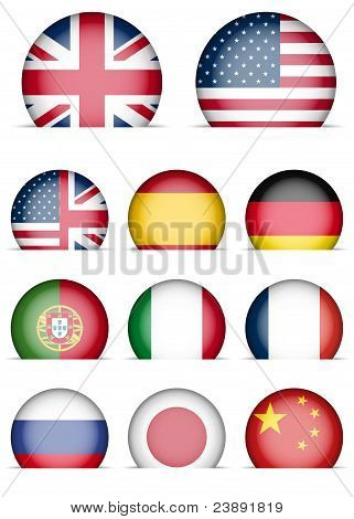 Collection Of Flags Icons