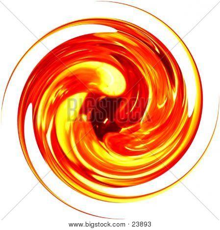 Glass Spiral - Orange
