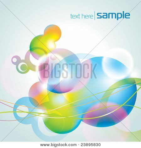 Abstract Pastel Background With Circles And Lines