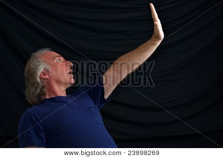 Man With Hand Out To Stop