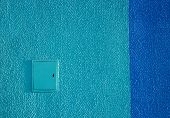 Background Texture Wall Plaster Barbed Not Smooth Blue Putty Outside Painting Strip Dark-blue Shield poster
