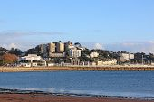 Torquay Town From Torre Abbey Sands, Devon poster