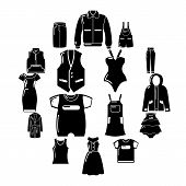 Fashion Clothes Wear Icons Set. Simple Illustration Of 16 Fashion Clothes Wear Vector Icons For Web poster