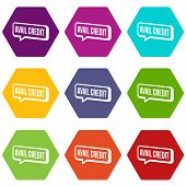 Avail Credit Icons 9 Set Coloful Isolated On White For Web poster