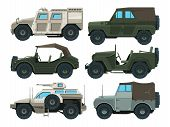 Colored Pictures Of Military Heavy Vehicles. Military Car Transportation, Transport Auto For War, Ve poster