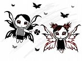 picture of emo-boy  - vector illustration of fairy boy and girl design - JPG