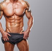 Body Of Muscular Male With Great Physique poster