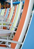 Colorful Chairs on Sun Deck