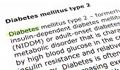 picture of diabetes mellitus  - Text highlighted in yellow with felt tip pen - JPG