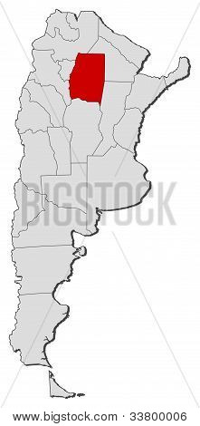 Map Of Argentina, Santiago Del Estero Highlighted
