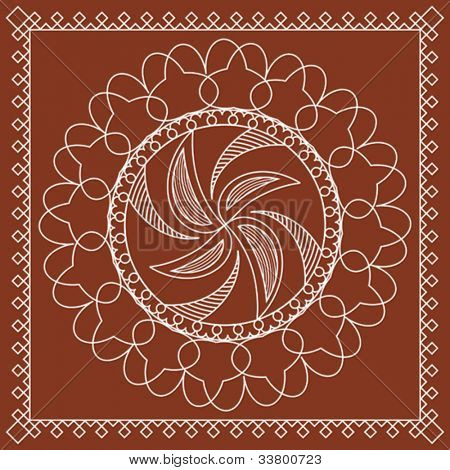 tribal Folk Motif Design wall painting
