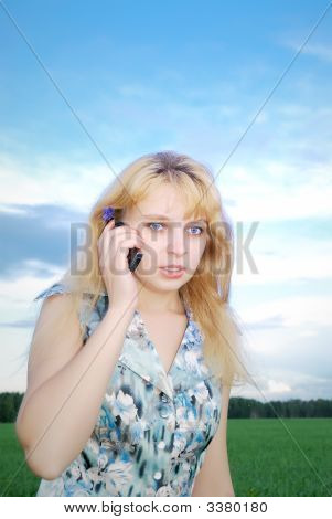 Business Woman Using A Mobile Phone