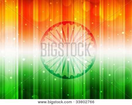 Indian Flag theme background with shiny effect for Independence Day, Republic Day and other occasions. EPS 10.