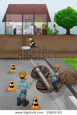 Working In The Street