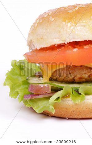 Tasty Hamburger Clipping Path