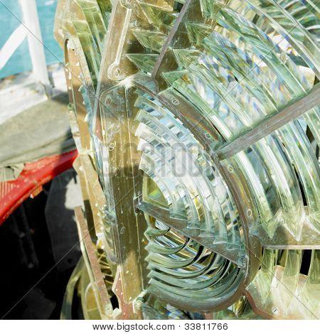 lighthouse's interior, Fresnel lens, Cayo Pared�?�³n Grande, Camaguey Province, Cuba