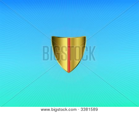 Golden Protective Shield