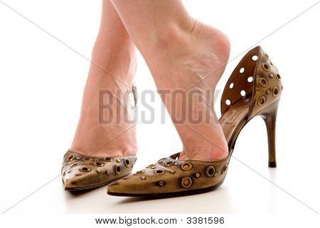Female Bare Feet In High Heels