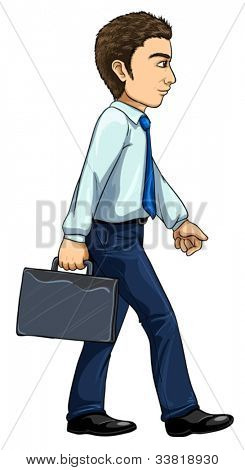 Illustration of modern man from evolution series