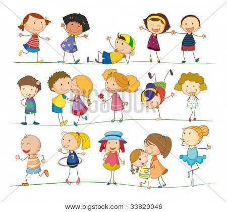 Darstellung der Auflistung von einfachen Kinder