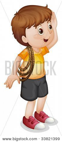 illustration of a boy with rope - EPS VECTOR format also available in my portfolio.