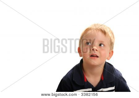 Young Boy Looking Up