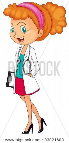 Illustration of a woman doctor - EPS VECTOR format also available in my portfolio.