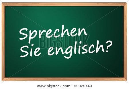 Illustration of German English sign - EPS VECTOR format also available in my portfolio.