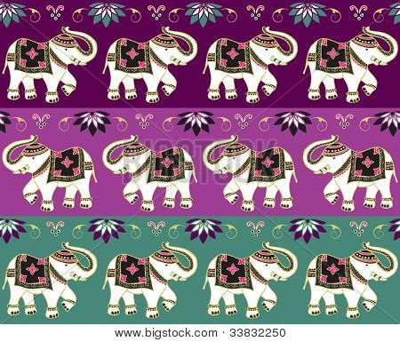 Traditional Indian Elephant Background