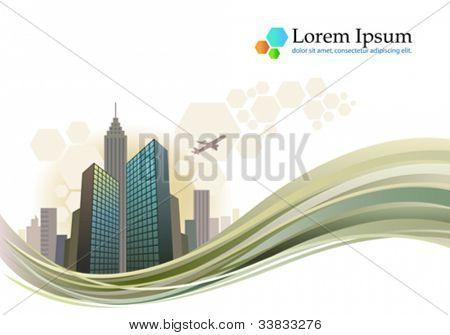 City skyline business brochure design