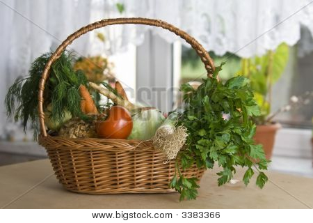 Vegetables In Kitchen