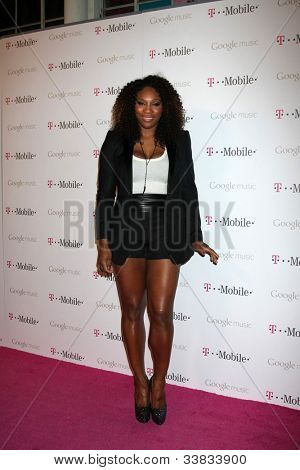 LOS ANGELES - NOV 16:  Serena Williams arrives at the Google Music Launch at Mr. Brainwash Studio on November 16, 2011 in Los Angeles, CA
