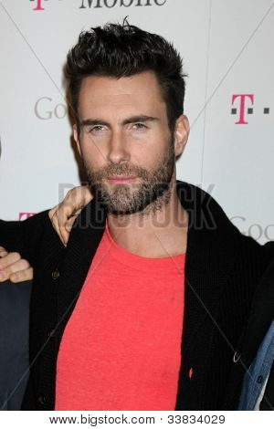 LOS ANGELES - NOV 16:  Adam Levine arrives at the Google Music Launch at Mr. Brainwash Studio on November 16, 2011 in Los Angeles, CA