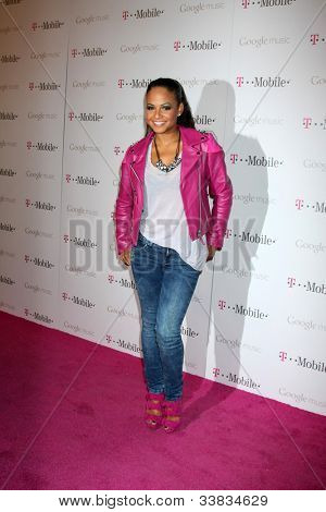 LOS ANGELES - NOV 16:  Christina Milian arrives at the Google Music Launch at Mr. Brainwash Studio on November 16, 2011 in Los Angeles, CA