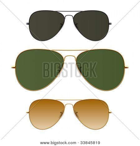 Sunglasses. Vector. Just place on face.