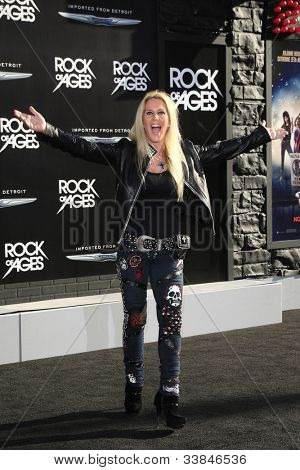 LOS ANGELES - JUN 8: Lita Ford at the 'Rock of Ages' Los Angeles premiere held at Grauman's Chinese Theater on June 8, 2012 in Los Angeles, California