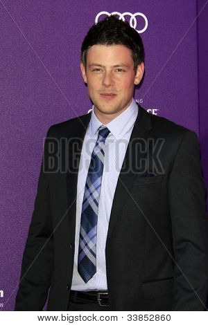 LOS ANGELES - JUN 9:  Cory Monteith arriving at 11th Annual Chrysalis Butterfly Ball at Private Residence on June 9, 2012 in Los Angeles, CA