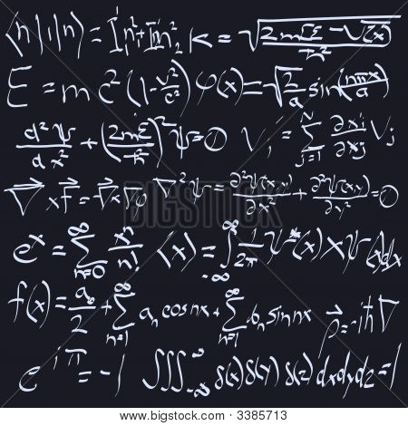 Seamless Blackboard Design With Real Equations