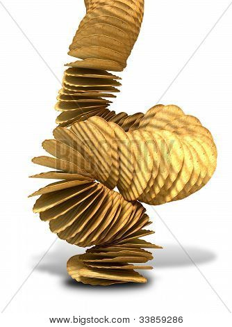 Potato Chip Stack Falling