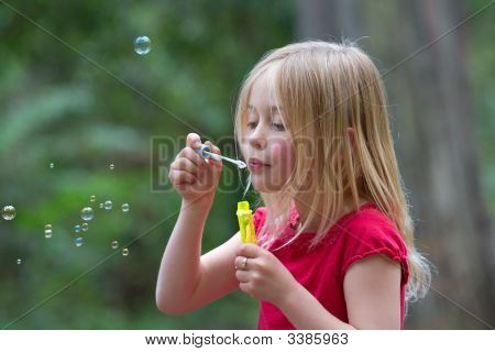 Blowing Bubbles.