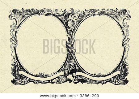 quadro vintage em fundo de textura de papel velho