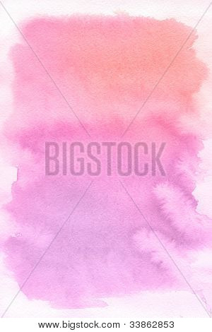 Rose spot, watercolor abstract hand painted background